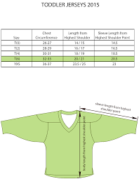 Hockey Jersey Size Conversion Chart Size Charts For Products Projoy Sportswears And Apparel