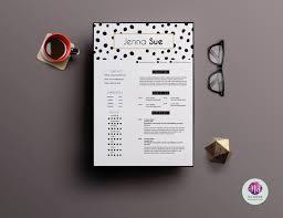 Creative 2 Page Cv Template Resume Templates Creative Market