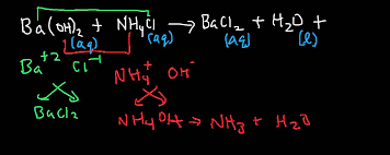 ba oh 2 nh4cl barium hydroxide and ammonium chloride gas evolution reaction you