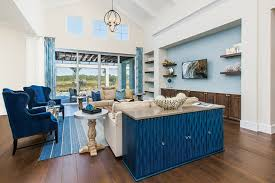 furniture design for home. Carson Wanted A Statement Piece To Be The First Item Catch Eye When Entering Living Room, Which She Achieves With Buffet In Vivid Blue. Furniture Design For Home