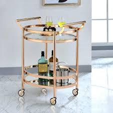 gold bar carts clear glass rose gold serving bar cart by acme neat home bars  gold . gold bar carts ...