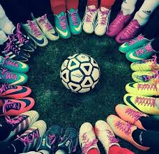 soccer football and football boots
