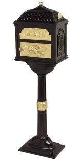 Decorative Mail Boxes Classic Locking Mailbox with Pedestal Post 40