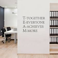 Inspirational office decor Amazing Office Team Work Inspirational Words Poster Quotes Wall Stickers For Office Decor Aliexpress Team Work Inspirational Words Poster Quotes Wall Stickers For Office