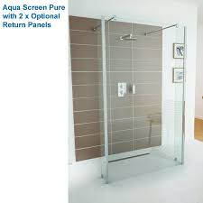 impey aqua screen pure 8mm thick wet room shower screen