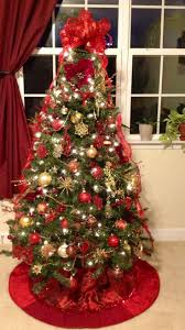 christmas trees decorated in red and gold. Perfect And White Christmas Tree With Red And Gold Decorations  For Trees Decorated In R