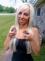 Bunnies blonde teen having