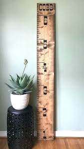 Growth Chart Ruler Home Depot Personalized Wooden Growth Chart Goldearth Co