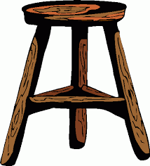 stool clipart. wooden stool clipart d