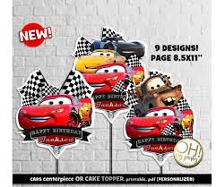 Cars 3 Centerpiececars Centerpiececars Cake Toppercars Birthday