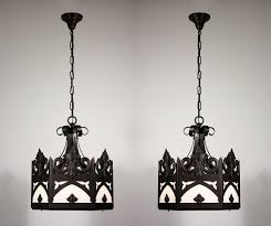 two matching vintage gothic revival six light chandeliers 1940s for contemporary property gothic style chandeliers plan
