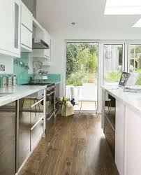 fabulous white color small home. Marvelous Design Ideas For Galley Kitchens Including Photos : Fabulous White Color Scheme Small Home M