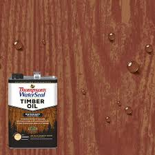 Thompsons waterseal penetrating timber oil pre tinted mahogany transparent exterior stain and sealer actual net contents 128 fl oz