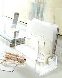 full image for acrylic desk accessories neiman marcus office desk organizer sets office depot desk organizer