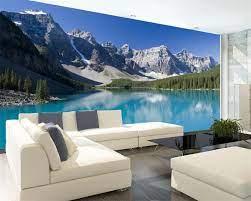 Beibehang wallpaper snow mountain lake ...