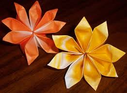 Flower Made By Paper Folding How To Fold Paper Flowers 10 Steps With Pictures Wikihow