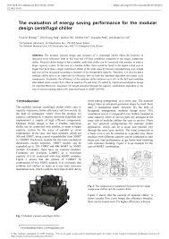 Series Counterflow Chiller Design Pdf The Evaluation Of Energy Saving Performance For The