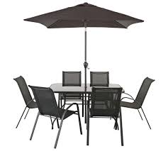 Buy Rattan Effect 4 Seater Garden Patio Furniture Set  Black At Argos Outdoor Furniture Sets