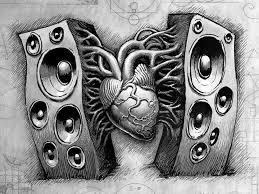 speakers art. pin drawn musician dj speaker #2 speakers art
