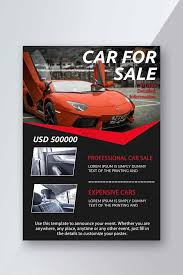Car Dealership Flyer Templates Car Sales Interior Introduction Red Sports Car Flyer