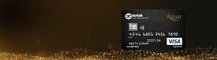 apply for royal signature credit card from kotak bank