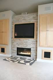 modern living room with napoleon plazmafire wall mounted vent free gas fireplace high