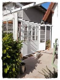 Shabby Landhaus Alte Fenster Sichtschutz Windschutz Terrasse