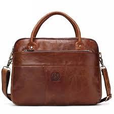 Men <b>Vintage Genuine Leather Handbag</b> Briefcase Messenger Bag ...