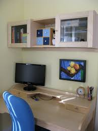 gustav desk with billy shelves