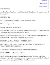 lawncare ad using craigslist to promote your lawn care business lawn care