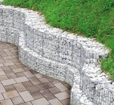 Small Picture Gabion retaining wall garden design ideas slope garden Garden