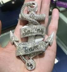 image lil yachty cops 35 carat white gold sailing team anchor pendant image