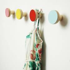 colorful coat hooks. Designové Věšáky Jako Puntíky Na Zdi. Wooden Wall HooksWooden Colorful Coat Hooks O