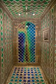 Mid-evil Custom Shower eclectic-bathroom