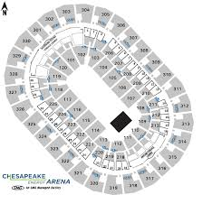 Oklahoma City Thunder Arena Seating Chart Seating Charts Chesapeake Energy Arena