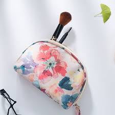 portable flower spring flower night makeup cosmetic bag beauty case organizer bag kits storage travel wash pouch waterproof in storage bags from home