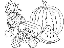 Coloring Pages Kids Various Types Of Fruits Coloring Page Kids Play ...