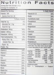 advocare nutrition facts gnc total lean nutrition facts