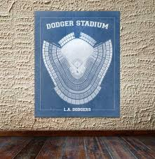 Ebbets Field Seating Chart Print Of Vintage Los Angeles Dodger Stadium Seating Chart On