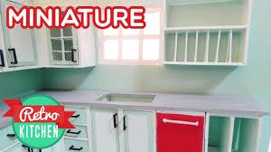 Miniature Dishwasher Dishwasher And Kitchen Shelves Retro Miniature Kitchen Room Box 1