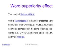 word superiority effect powerpoint