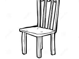 chair clipart. chair cartoon black and white old clipart