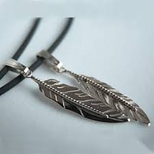native american inspired eagle feather pendants