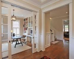 interior pocket french doors. Home Office - Traditional Freestanding Desk Medium Tone Wood Floor Idea In DC Metro Interior Pocket French Doors O