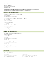 Resume Templates Sample Format For Fresh Graduates Two Page Stirring