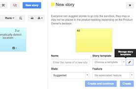 Feature Story Template Story Template Icescrum