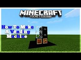 How To Make Vending Machine In Minecraft Pe Impressive How To Make A Vending Machine In Minecraft PE 4848484848 YouTube