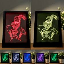 mood lighting living room. mood lighting living room man figure led spider photo frame night light colorful table home