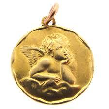 antique gold cherub pendant charm a r ullmann