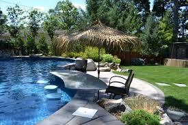 home pool bar. Small Yard Goes Big With Amenities: Home Pool Bar M
